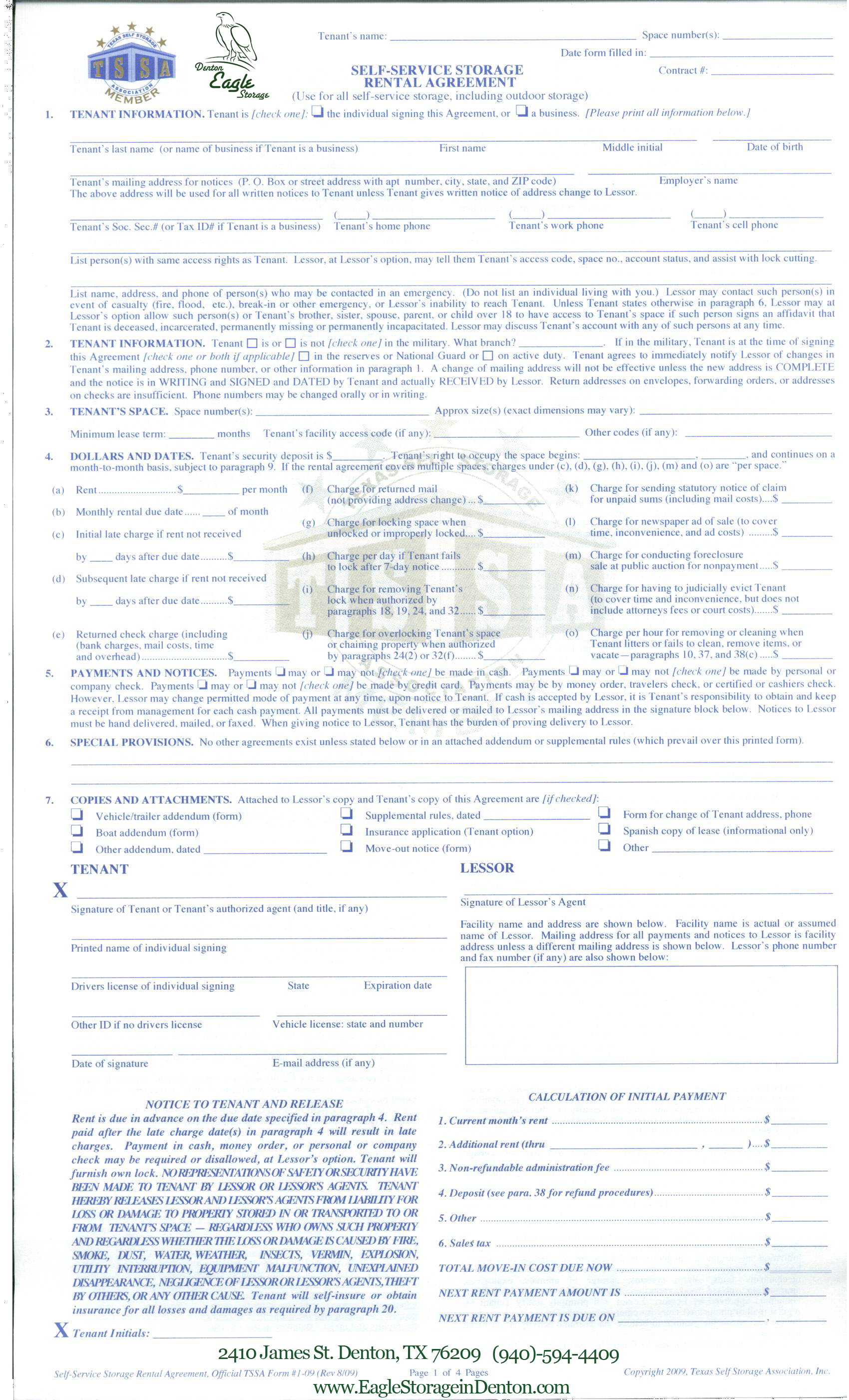 Lease Agreement Form  Lease Agreement Copy